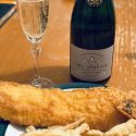 Fish 'n' Chips with Champagne