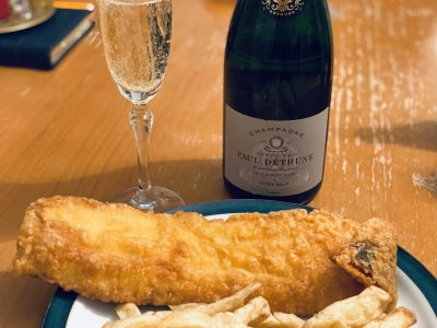 To pair or not to pair…Fish 'n' Chips with Champagne