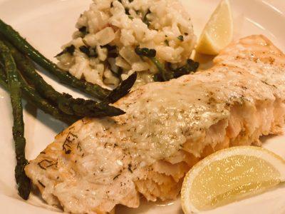 Grandma's Baked Salmon w/ a Washington State Riesling