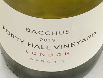 Forty Hall Vineyard's 2019 Organic Bacchus