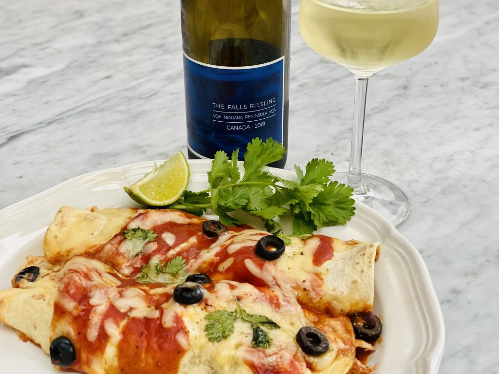 Canadian Riesling and Enchiladas