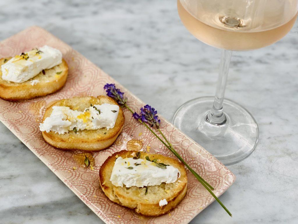 Buchette de Provence with Whispering Angel Rose Wine