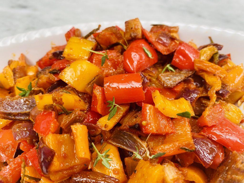 rainbow roasted sweet pepper antipasto