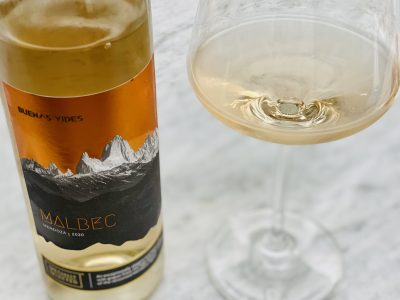 A 2020 Argentinian White Malbec Wine from Aldi
